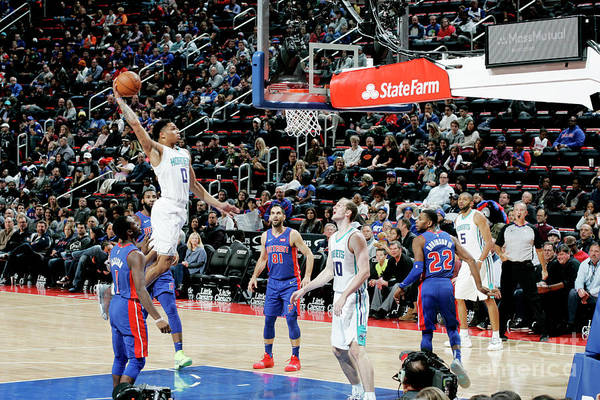 Nba Pro Basketball Art Print featuring the photograph Charlotte Hornets V Detroit Pistons by Brian Sevald