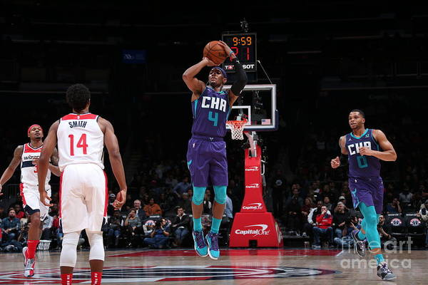 Nba Pro Basketball Art Print featuring the photograph Charlotte Hornets V Washington Wizards by Ned Dishman