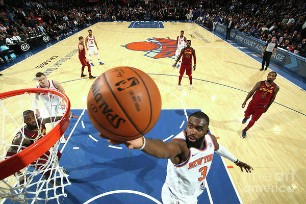 Tim Hardaway Jr. Art Print featuring the photograph Cleveland Cavaliers V New York Knicks by Nathaniel S. Butler