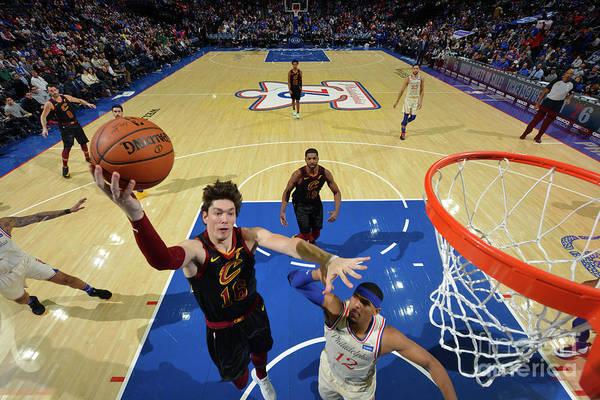 Nba Pro Basketball Art Print featuring the photograph Cleveland Cavaliers V Philadelphia 76ers by Jesse D. Garrabrant