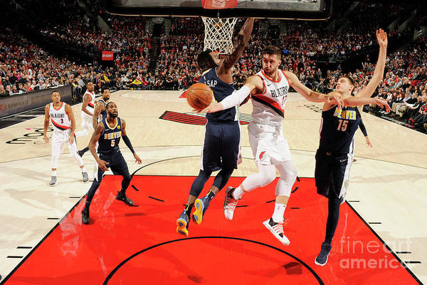 Jusuf Nurkić Art Print featuring the photograph Denver Nuggets V Portland Trail Blazers by Cameron Browne