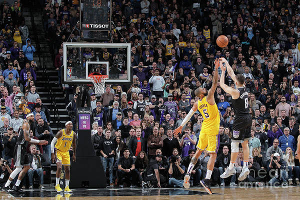 Nba Pro Basketball Art Print featuring the photograph Los Angeles Lakers V Sacramento Kings by Rocky Widner
