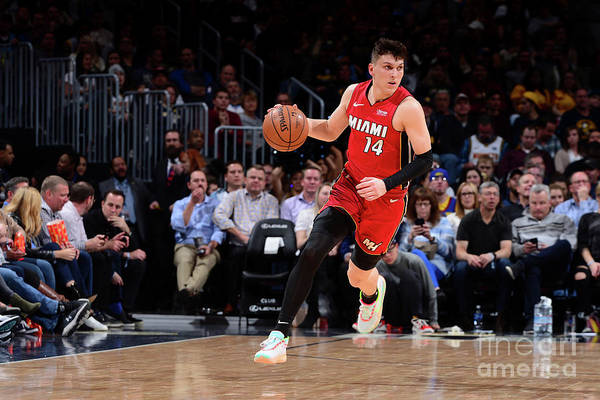 Tyler Herro Art Print featuring the photograph Miami Heat V Denver Nuggets by Bart Young