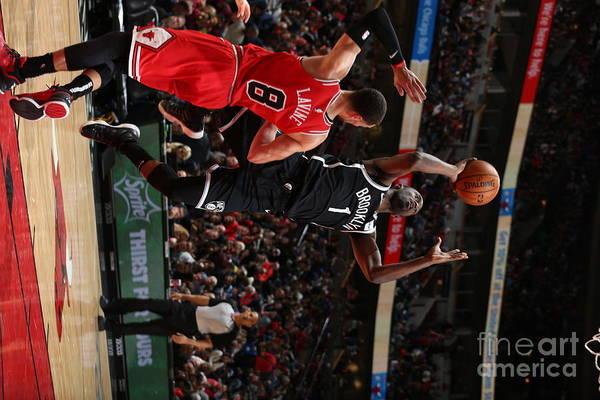 Nba Pro Basketball Art Print featuring the photograph Brooklyn Nets V Chicago Bulls by Gary Dineen