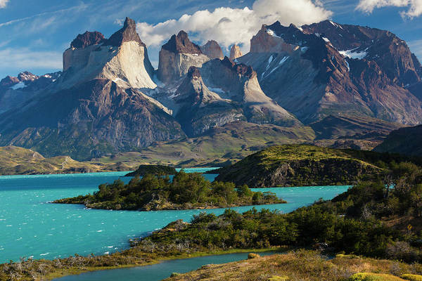 Scenics Art Print featuring the photograph Chile, Torres Del Paine National Park by Walter Bibikow