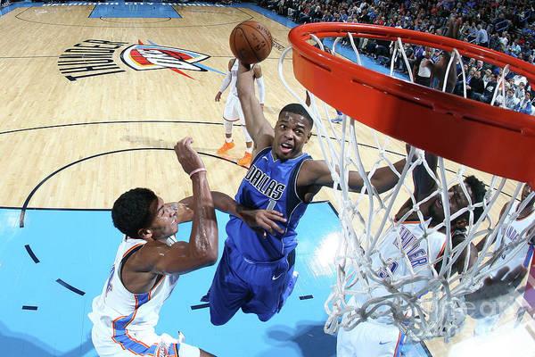 Nba Pro Basketball Art Print featuring the photograph Dallas Mavericks V Oklahoma City Thunder by Layne Murdoch