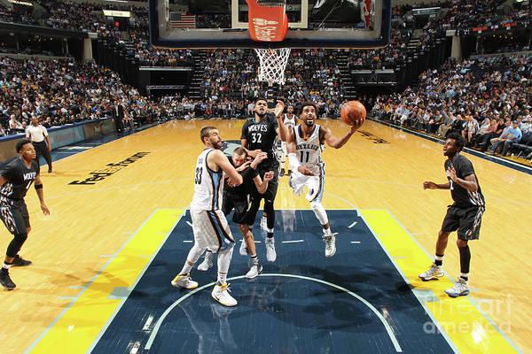 Nba Pro Basketball Art Print featuring the photograph Minnesota Timberwolves V Memphis by Joe Murphy