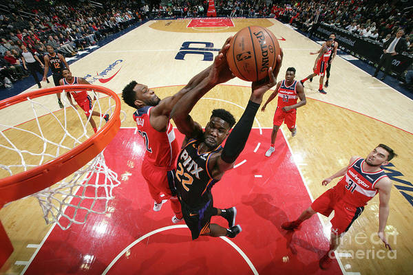Nba Pro Basketball Art Print featuring the photograph Phoenix Suns V Washington Wizards by Ned Dishman