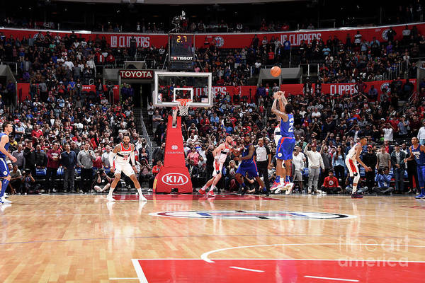 Nba Pro Basketball Art Print featuring the photograph Washington Wizards V La Clippers by Andrew D. Bernstein