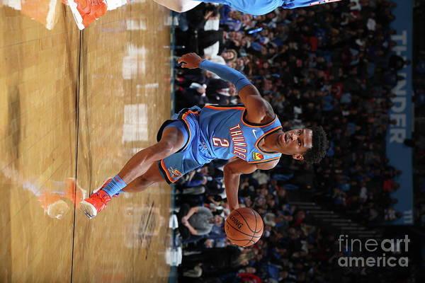 Nba Pro Basketball Art Print featuring the photograph 76ers Vs Thunder by Zach Beeker