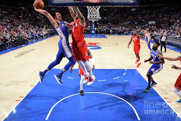 Nba Pro Basketball Art Print featuring the photograph Houston Rockets V Philadelphia 76ers by Jesse D. Garrabrant