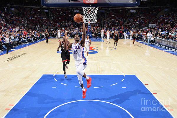 Nba Pro Basketball Art Print featuring the photograph Toronto Raptors V Philadelphia 76ers by Jesse D. Garrabrant