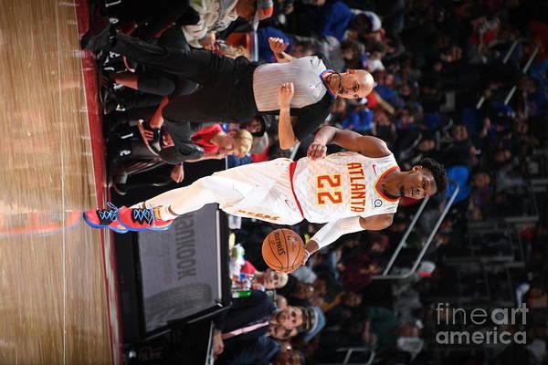 Nba Pro Basketball Art Print featuring the photograph Atlanta Hawks V Detroit Pistons by Chris Schwegler