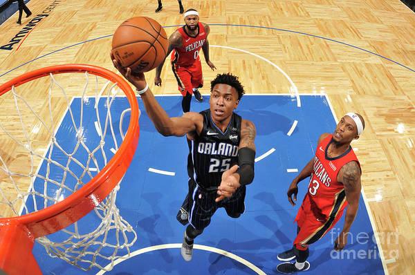 Nba Pro Basketball Art Print featuring the photograph New Orleans Pelicans V Orlando Magic by Fernando Medina