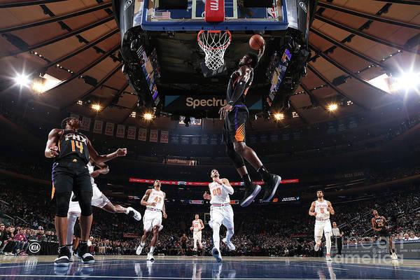Nba Pro Basketball Art Print featuring the photograph Phoenix Suns V New York Knicks by Nathaniel S. Butler