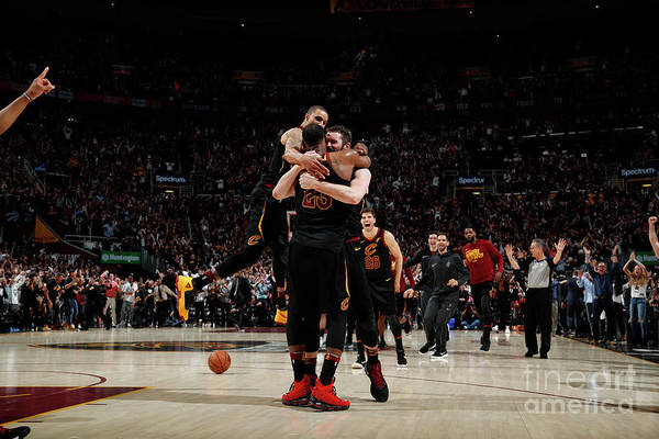 Playoffs Art Print featuring the photograph Toronto Raptors V Cleveland Cavaliers - by Jeff Haynes