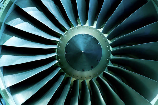 Material Art Print featuring the photograph A Close Of Up A Turbine Showing The by Brasil2