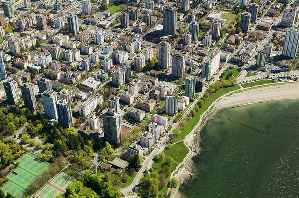Outdoors Art Print featuring the photograph Aerial Of West End, Vancouver by Lucidio Studio, Inc.
