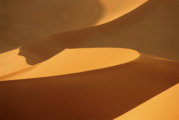 Shadow Art Print featuring the photograph Africa, Namibia, Sand Dunes, Full Frame by Peter Adams