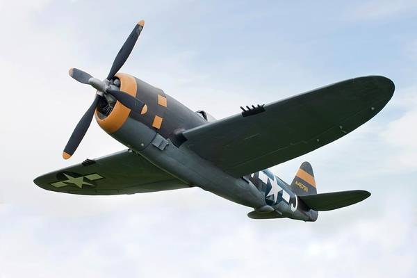 Air Attack Art Print featuring the photograph Airplane P-47 Thunderbolt From World by Okrad