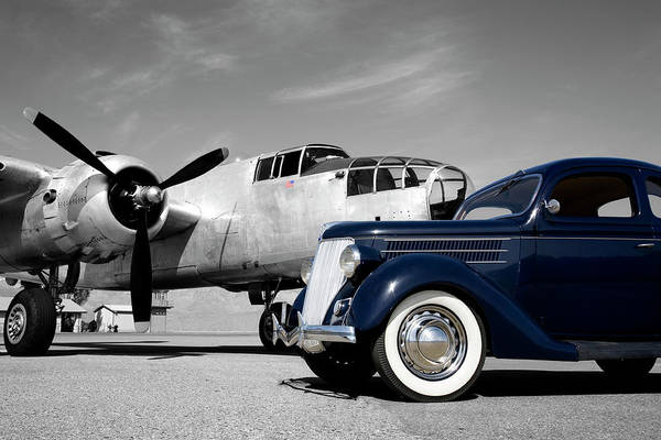 Propeller Art Print featuring the photograph Airplanes And Cars by Sierrarat