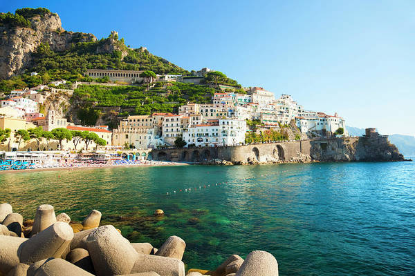 Tyrrhenian Sea Art Print featuring the photograph Amalfi Coast, Italy by Brzozowska