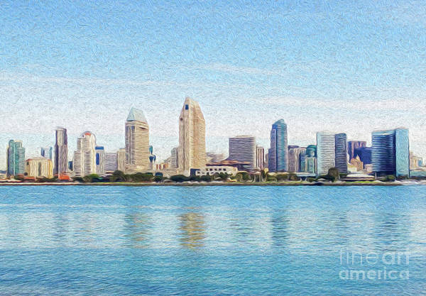 Art Art Print featuring the digital art Americas Finest City by Kenneth Montgomery