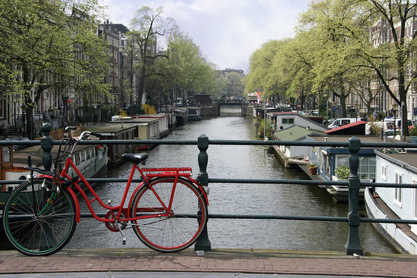 Row House Art Print featuring the photograph Amsterdam City Scene by W-ings