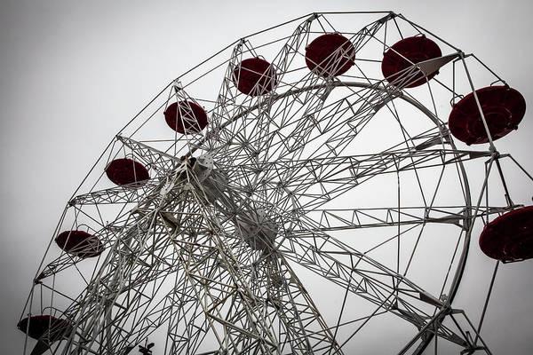 Empty Art Print featuring the photograph Amusement Park by Aluma Images