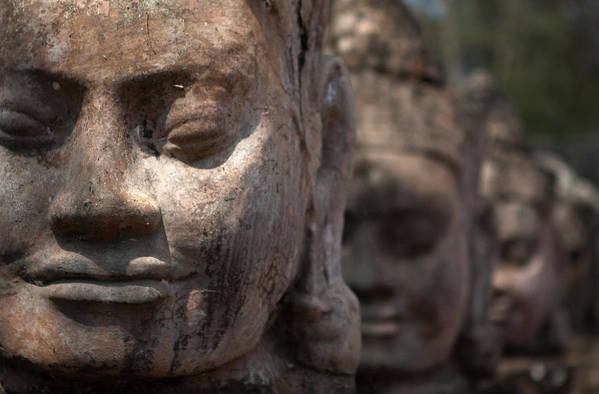 Art Art Print featuring the photograph Angkor Warriors by Romulo Rejon