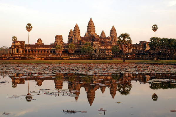 Tranquility Art Print featuring the photograph Angkor Wat - Siem Reap - Cambodia by By Lionel Arnould