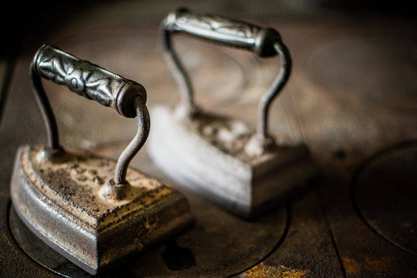 Two Objects Art Print featuring the photograph Antique Irons by Jimss