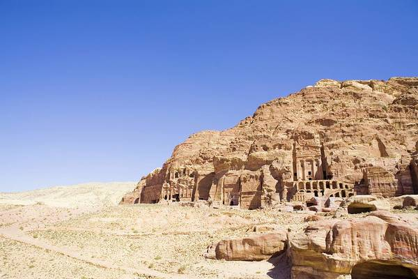 Scenics Art Print featuring the photograph Archaeological Remains Of Petra by Gallo Images