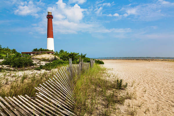 Water's Edge Art Print featuring the photograph Barnegat Lighthouse, Sand, Beach, Dune by Dszc