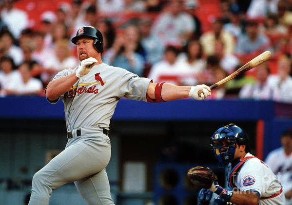 St. Louis Cardinals Art Print featuring the photograph Baseball - Mark Mcgwire by Icon Sports Wire