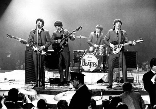 Rock Music Art Print featuring the photograph Beatles Perform In Washington, D.c by Michael Ochs Archives