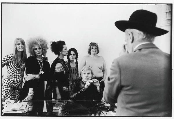 Artist Art Print featuring the photograph Beaton Photographs Warhol & Company by Fred W. McDarrah