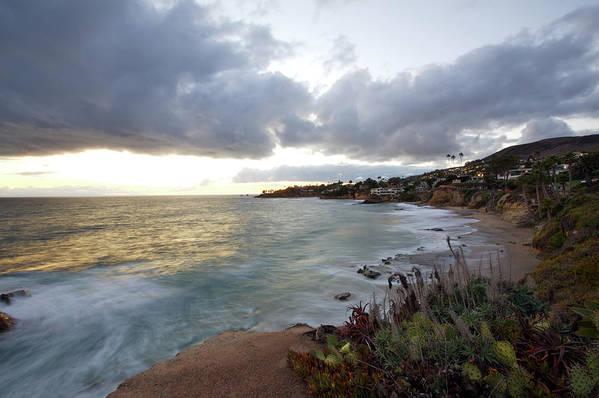 Laguna Beach Art Print featuring the photograph Beautiful Laguna Coast After Sunset by Ekash