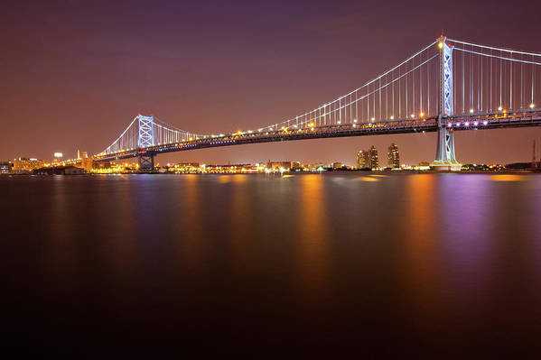 Built Structure Art Print featuring the photograph Ben Franklin Bridge by Richard Williams Photography