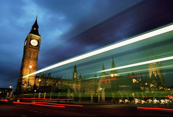 Gothic Style Art Print featuring the photograph Big Ben And The Houses Of Parliament by Allan Baxter
