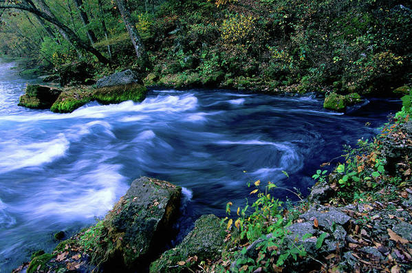 Scenics Art Print featuring the photograph Big Spring, Ozarks National Scenic by John Elk Iii