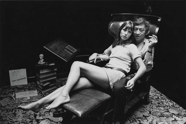 Singer Art Print featuring the photograph Birkin And Gainsbourg by Reg Lancaster