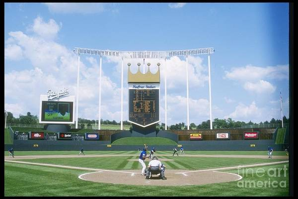 American League Baseball Art Print featuring the photograph Blue Jays V Royals by Stephen Dunn