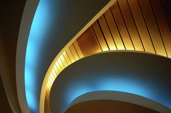 Curve Art Print featuring the photograph Blue Swirl by Copyright Ralph Grunewald