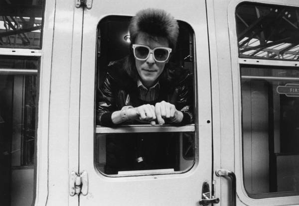 David Bowie Art Print featuring the photograph Bowie On The Rails by Smith