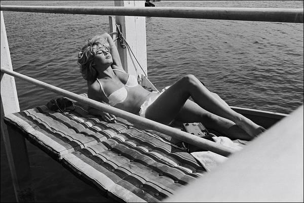 Brigitte Bardot Art Print featuring the photograph Brigitte Bardot Sur Le Tournage De Vie by Giancarlo Botti