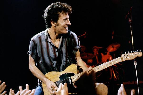 Bruce Springsteen Art Print featuring the photograph Bruce Springsteen Live by Larry Hulst