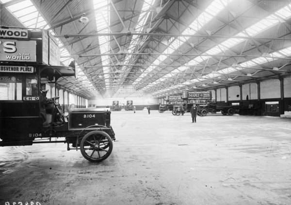 Engine Art Print featuring the photograph Bus Garage by Hulton Archive