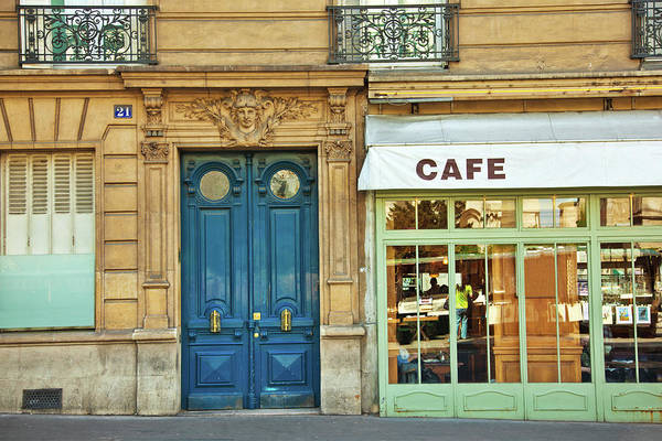 Diner Art Print featuring the photograph Cafe In Paris by Nikada