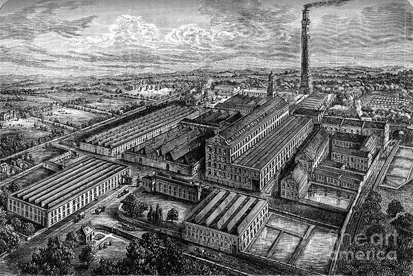 Working Art Print featuring the drawing Camperdown Linen Works, Dundee, C1880 by Print Collector